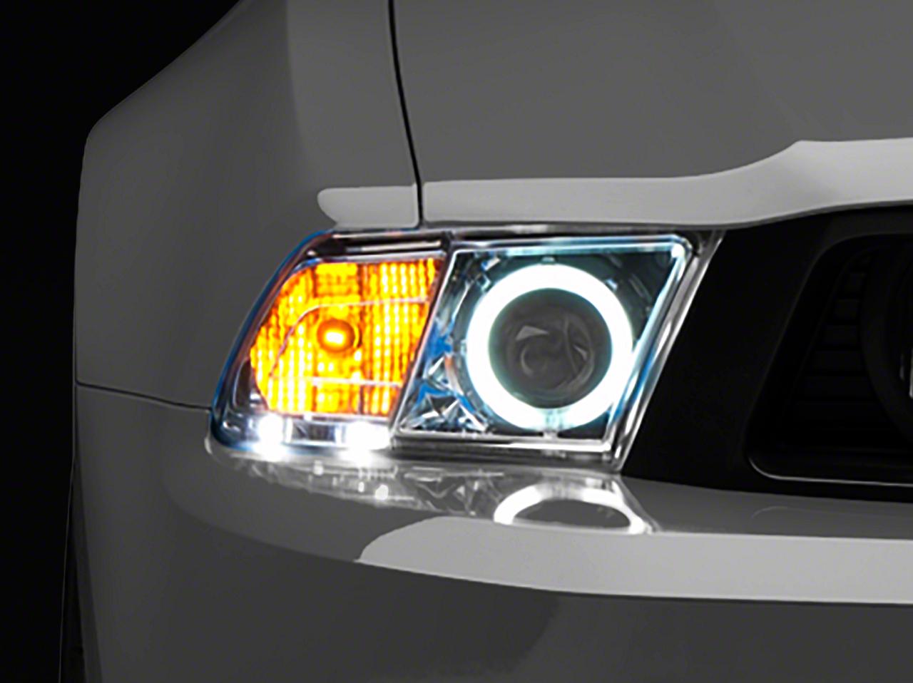 Raxiom Chrome Projector Headlights - CCFL Halo (10-12 GT, V6)