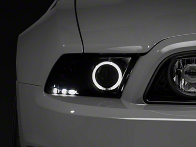 Raxiom Smoked Projector Headlights - CCFL Halo (13-14 GT, V6 with Factory HID)