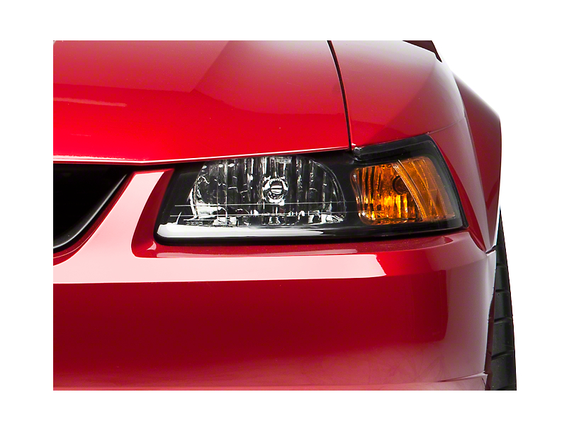 Black Stock Replacement Headlight - Left Side (99-04 All)
