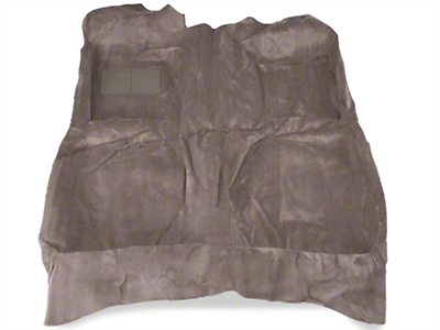 Replacement Floor Carpet - Coupe/Hatchback - Smoke Gray (82-93 All)