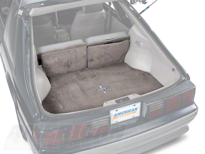 Replacement Hatch Carpet - Smoke Gray w/ Pony Logo (87-93 All)