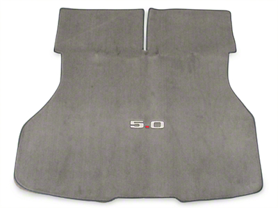 Replacement Hatch Carpet - Titanium Gray w/ 5.0 Logo (87-93 All)