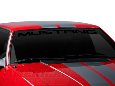 Mustang Windshield Banner - Black (79-93 All)