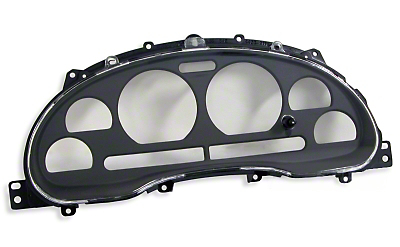 Black Instrument Bezel & Clear Lens (99-04 All)