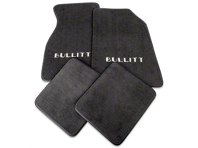 Graphite Floor Mats - Bullitt Logo (99-04 All)