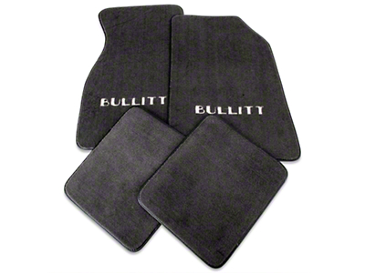 Dark Charcoal Floor Mats - Bullitt Logo (99-04 All)