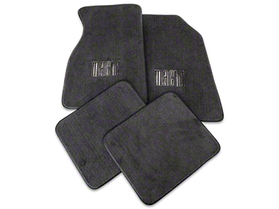 Dark Charcoal Floor Mats - Mach 1 Logo (99-04 All)