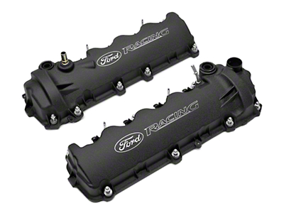 Ford Racing Laser Etched Valve Covers - Black (05-10 GT)