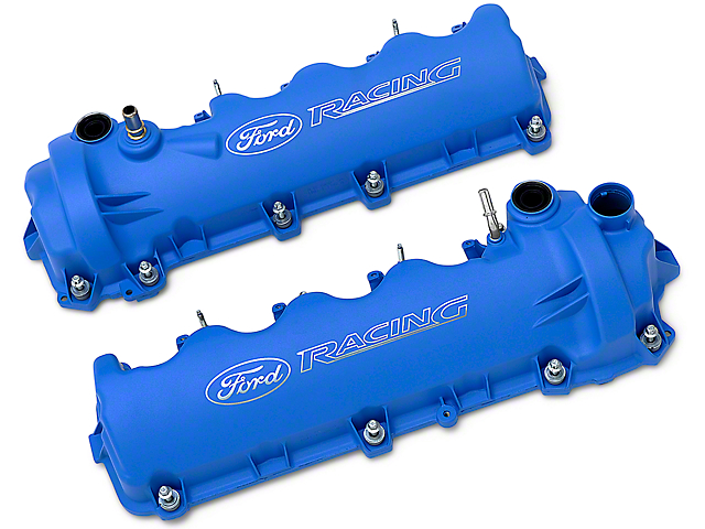 Ford Performance Laser Etched Valve Covers - Blue (05-10 GT)
