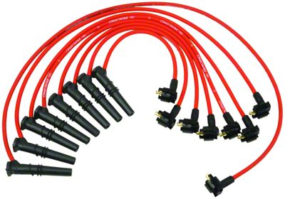 Add High Performance 9mm Spark Plug Wires - Red