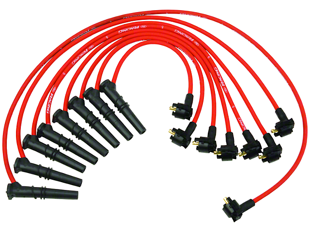 Ford Racing High Performance 9mm Spark Plug Wires - Red (96-98 GT)