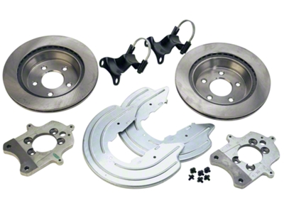 Ford Racing Rear Caliper Bracket Kit with Rotors (94-04 GT, V6)