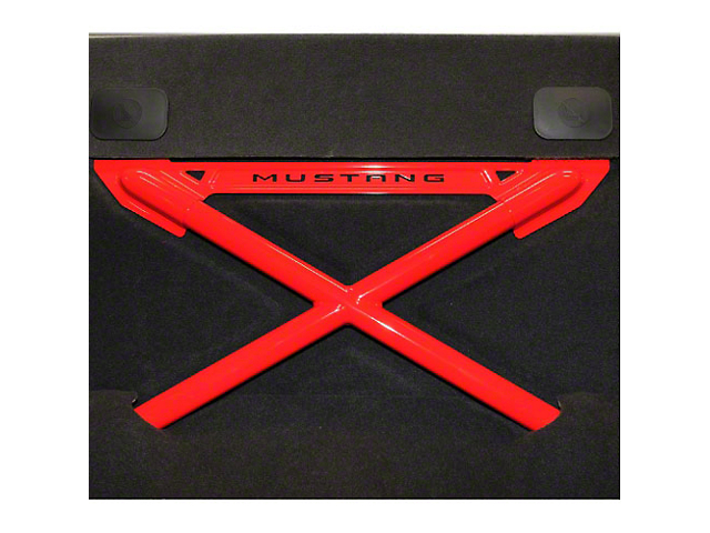 Ford Racing X-Brace Rear Seat Delete - Coupe - Red (05-13 All)