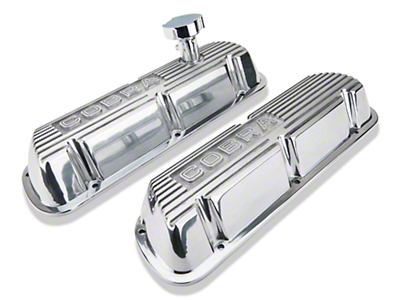 Ford Racing Polished Valve Covers w/ Cobra Logo (86-93 5.0L)
