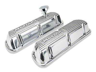 Ford Racing Polished Valve Covers w/ Mustang Logo (86-93 5.0L)