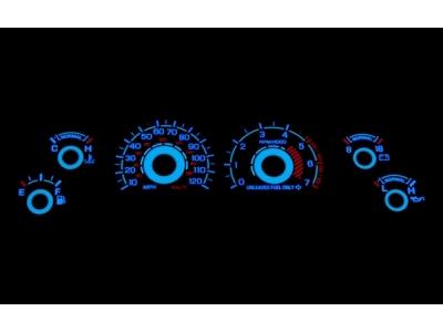 White Face Reverse Glow Gauge Insert (94-98 V6)