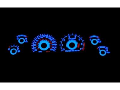 White Face Reverse Glow Gauge Insert (94-95 GT)