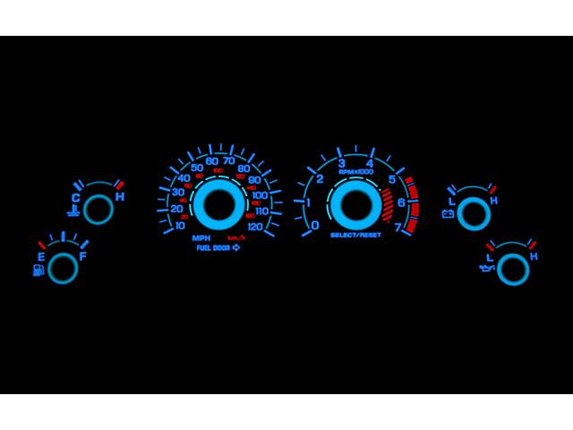 White Face Reverse Glow Gauge Insert (99-04 V6)