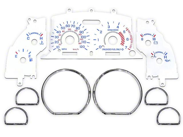White Face Gauge and Chrome Ring Kit (94-98 V6)