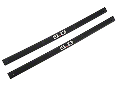 Black Door Sill Plates - 5.0 Emblem (79-93 All)