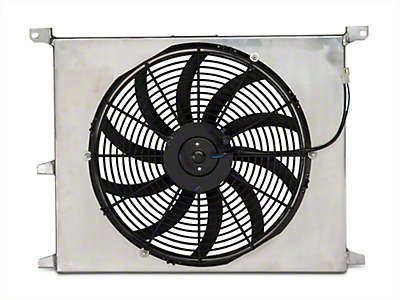SR Performance 16 in. Performance Slim Electric Radiator Fan w/ Shroud (79-14 All)
