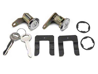 Door Lock Set - Stainless (81-89 All)