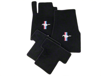 Lloyd Black Floor Mats - Tri-Bar Pony Logo (05-10 All)