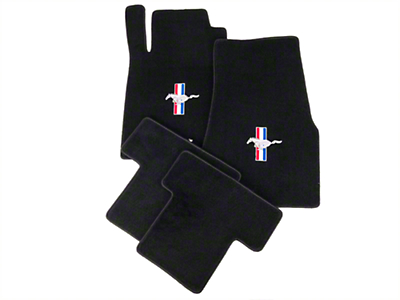 Black Floor Mats - Pony Logo (05-10 All)