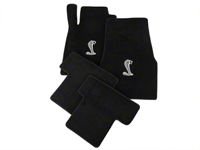 Lloyd Black Floor Mats - Cobra Logo (05-10 All)
