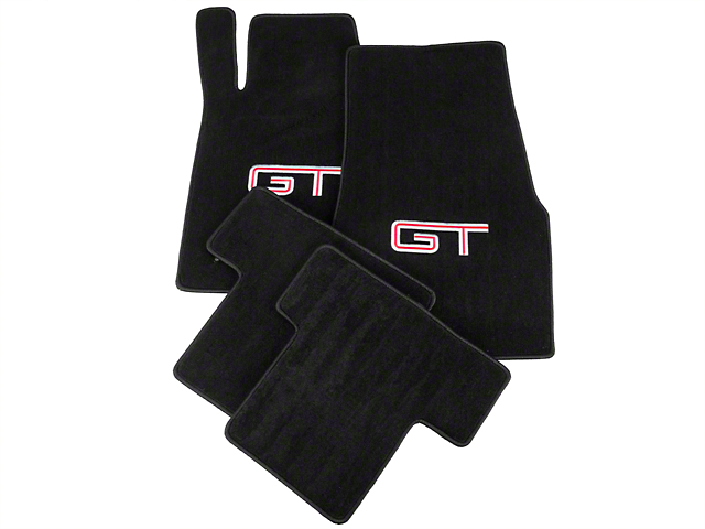 Lloyd Black Floor Mats - Silver & Red GT Logo (05-10 All)