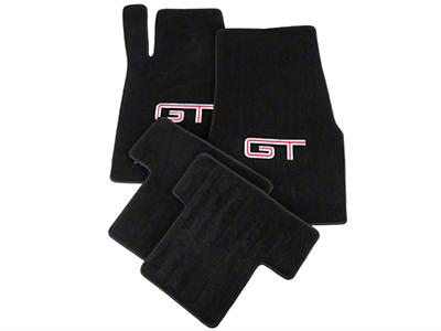 Black Floor Mats - Silver & Red GT Logo (05-10 All)