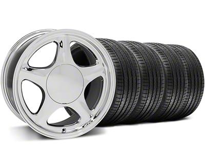 Pony Chrome Wheel & Sumitomo Tire Kit - 17x8 (87-93; Excludes 93 Cobra)