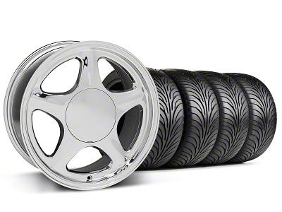 Staggered Pony Chrome Wheel & Sumitomo Tire Kit - 17x8/9 (87-93; Excludes 93 Cobra)