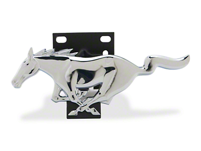 Ford Racing Running Pony Grille Emblem w/ Bracket - Chrome (94-04 All)