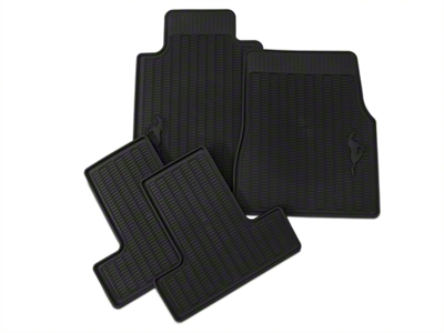 Ford Racing All Weather Floor Mats w/ Pony Logo (05-10 All)