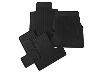Ford All Weather Floor Mats w/ Pony Logo (05-10 All)