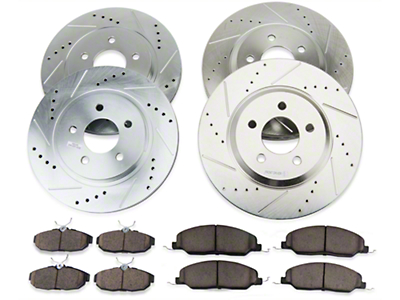 Power Stop Brake Rotor & Pad Kit - Front & Rear (05-10 GT)