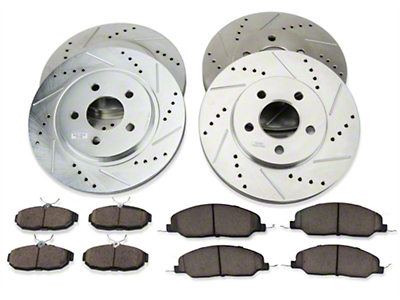 Power Stop Brake Rotor & Pad Kit - Front & Rear (05-10 V6)