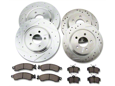 Power Stop Brake Rotor & Pad Kit - Front & Rear (94-04 Bullitt, Mach 1, Cobra)