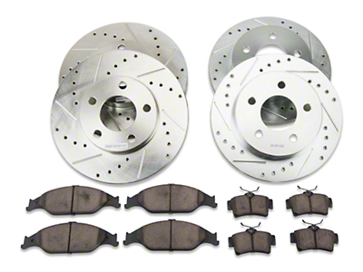 Power Stop Brake Rotor & Pad Kit - Front & Rear (99-04 GT, V6)