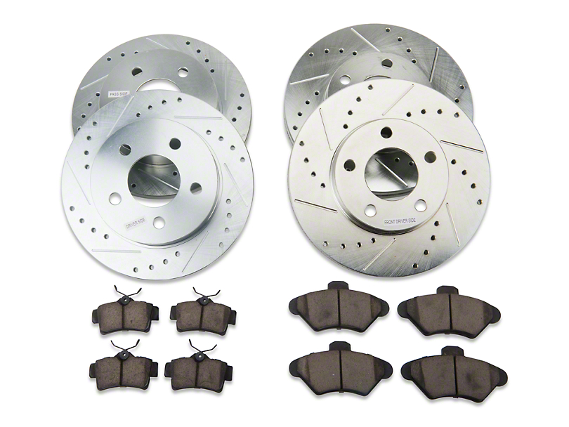 Power Stop Z23 Evolution Sport Brake Rotor & Pad Kit - Front & Rear (94-98 GT, V6)