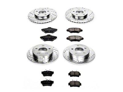 Power Stop Brake Rotor & Pad Kit - Front & Rear (94-98 GT, V6)