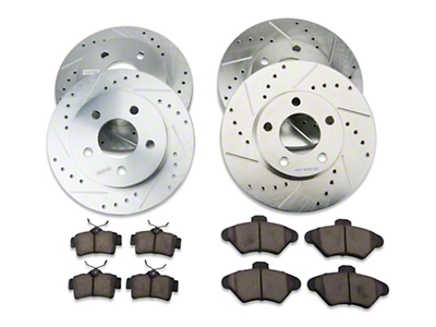 Power Stop Brake Rotor & Pad Kit - Front & Rear (94-98 GT, V6)