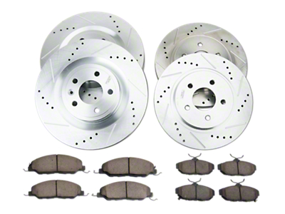 Power Stop Brake Rotor & Pad Kit - Front & Rear (11-14 GT)
