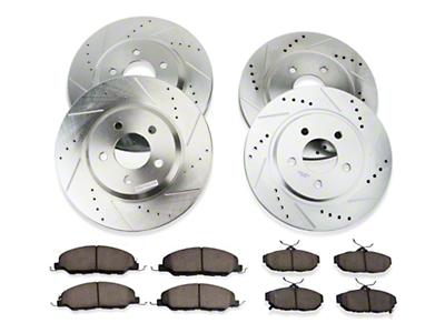 Power Stop Brake Rotor & Pad Kit - Front & Rear (11-14 V6)