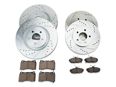 Power Stop Brake Rotor & Pad Kit - Front & Rear (11-14 GT Brembo, 12-13 BOSS, 07-12 GT500)
