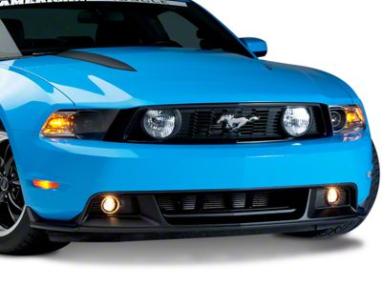 Add Ford BOSS/CS Style Lower Front Fascia w/ Foglights (10-12 GT)