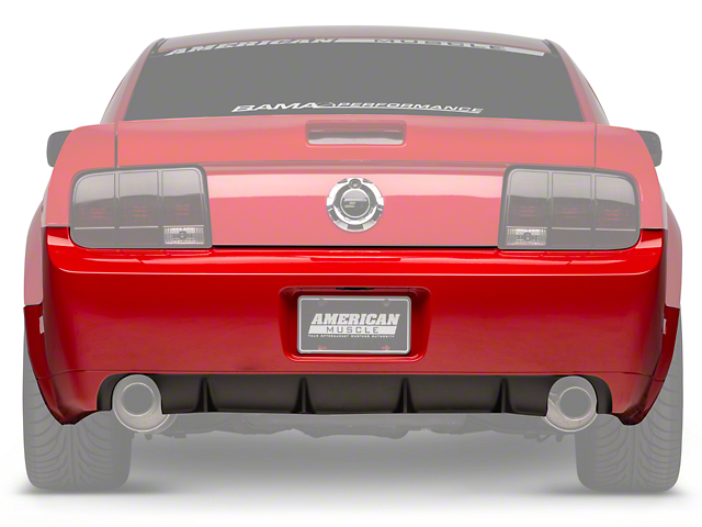 GT500/CS Rear Bumper Cover w/ Diffuser - Unpainted (05-09 All)