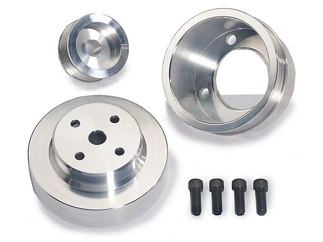 BBK Underdrive Pulleys - Aluminum (79-93 5.0L)