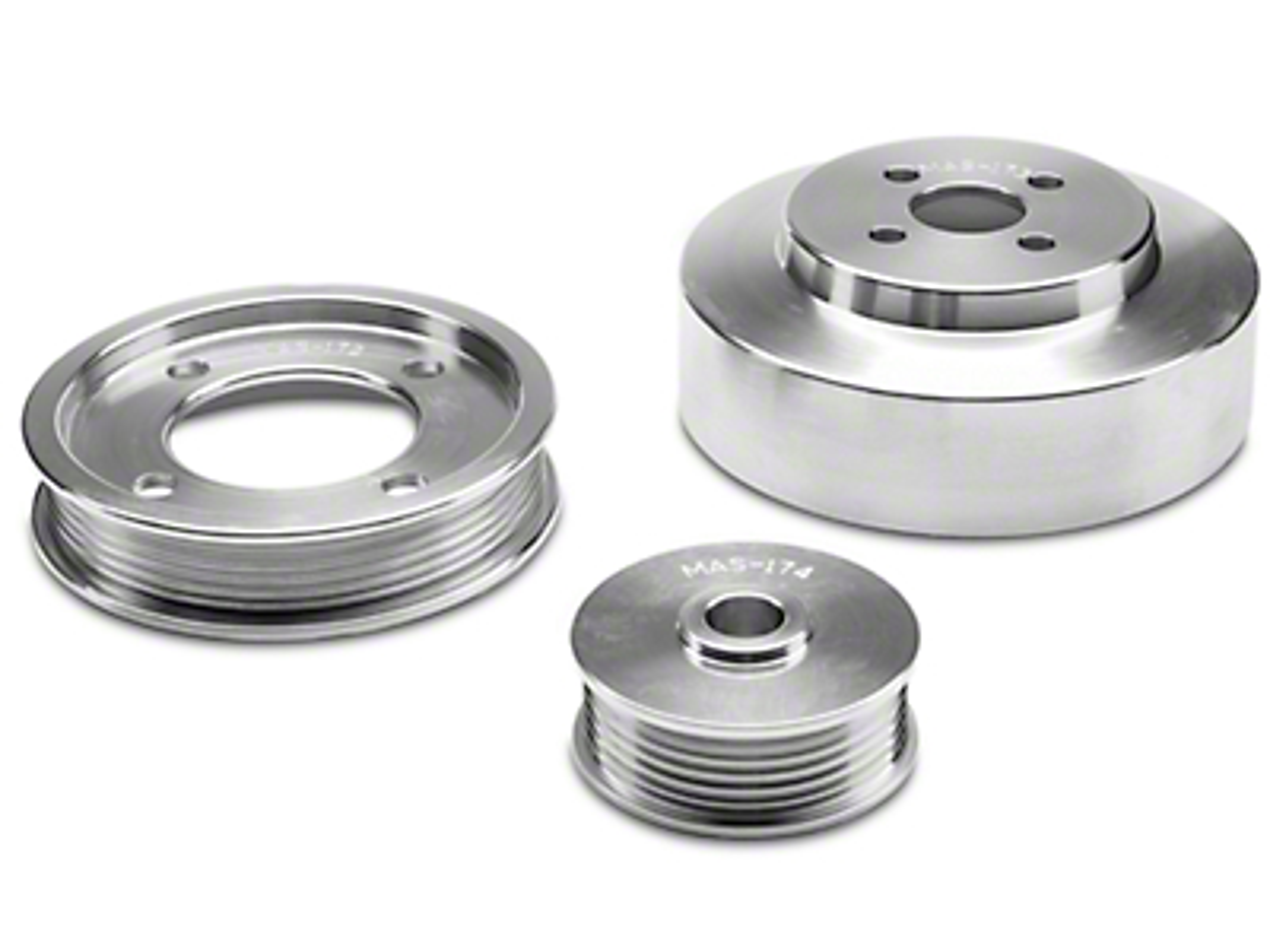BBK Underdrive Pulleys - Aluminum (94-95 GT)